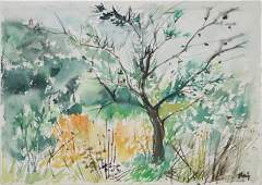 (After John Marin) Landscape with Tree