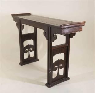 Chinese Hardwood Narrow Table
