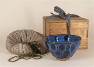 Jian Tenmoku Black and Blue Glazed Tea Bowl