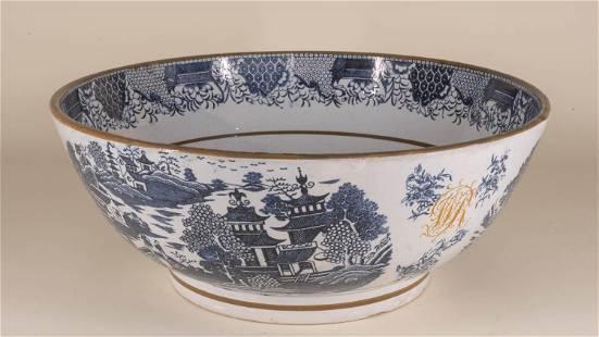 Presentation Staffordshire Pearlware Punch Bowl