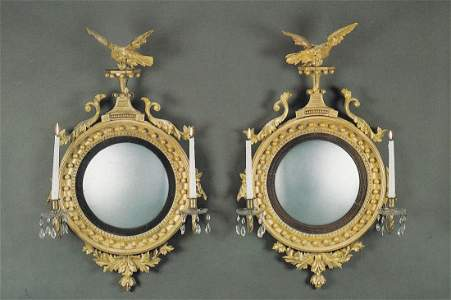 117: Pair of Diminutive Early Classical Carved Giltwood
