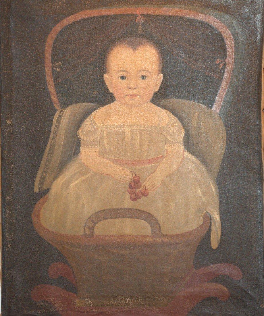 175: Prior-Hamblin School -- Baby in Rocker w/ Cherries