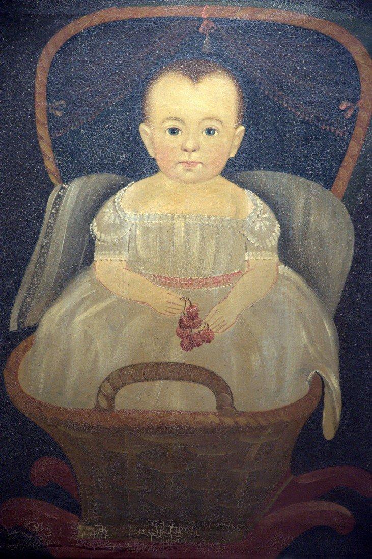175: Prior-Hamblin School -- Baby in Rocker w/ Cherries - 2