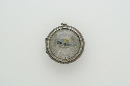 Silver and Tortoise Shell Pair Case Pocket Watch w