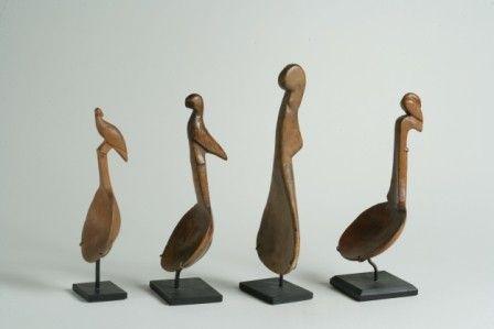 Four Bird Effigy Ladles (4)