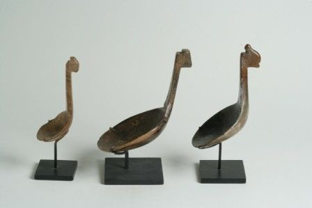 Group of Three Related Reductive Animal Effigy Lad