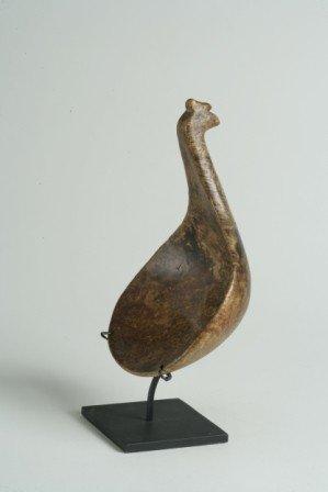 314: Ash Burl Bird Effigy Ladle with Coxcomb