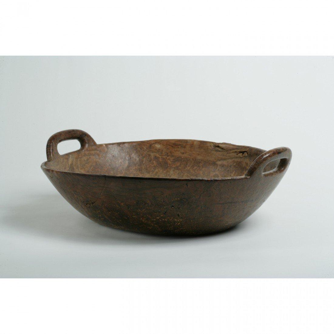 315: Iroquois Ash Burl Bowl With Open Handles