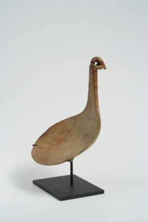 Large Effigy Ladle with Bird of Prey and Incised C