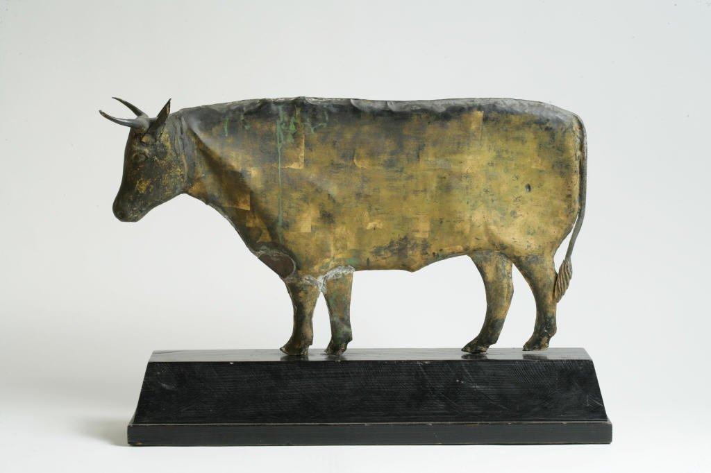 2: Gilt Copper Weathervane Depicting a Steer