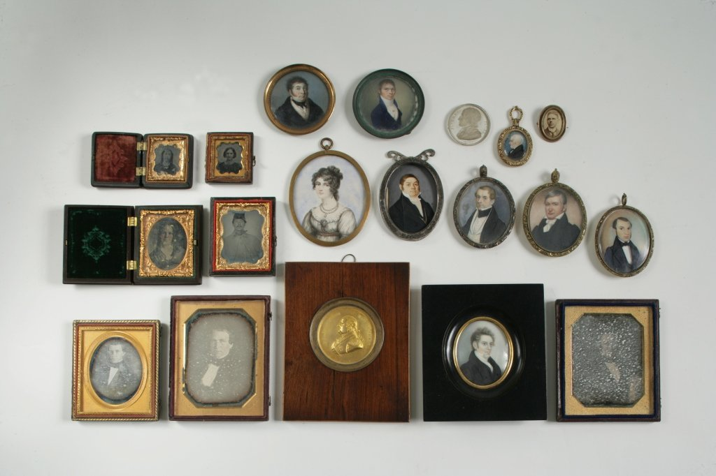 19: Group of Miniature Portraits and Daguerreotypes