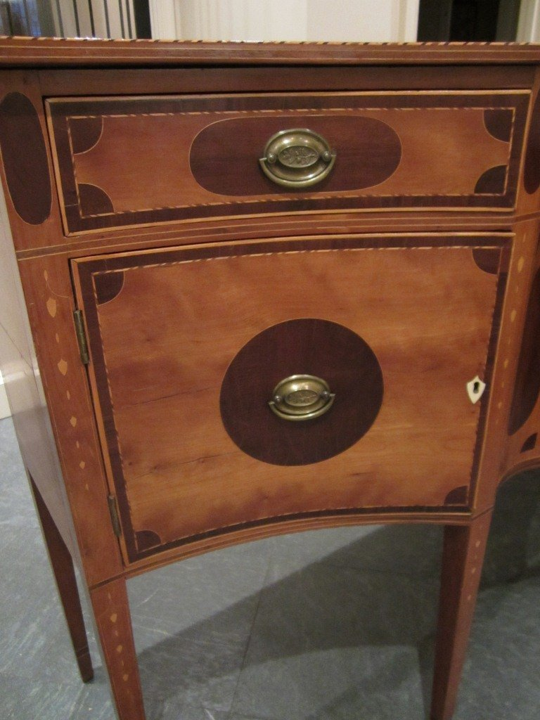 97: Federal Serpentine-Front Inlaid Sideboard - 6