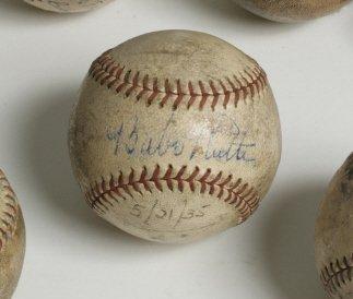 245: Babe Ruth Signed Baseball