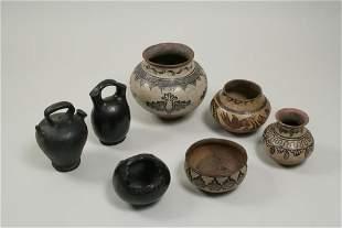 Group of Seven Pueblo Pottery Vessels