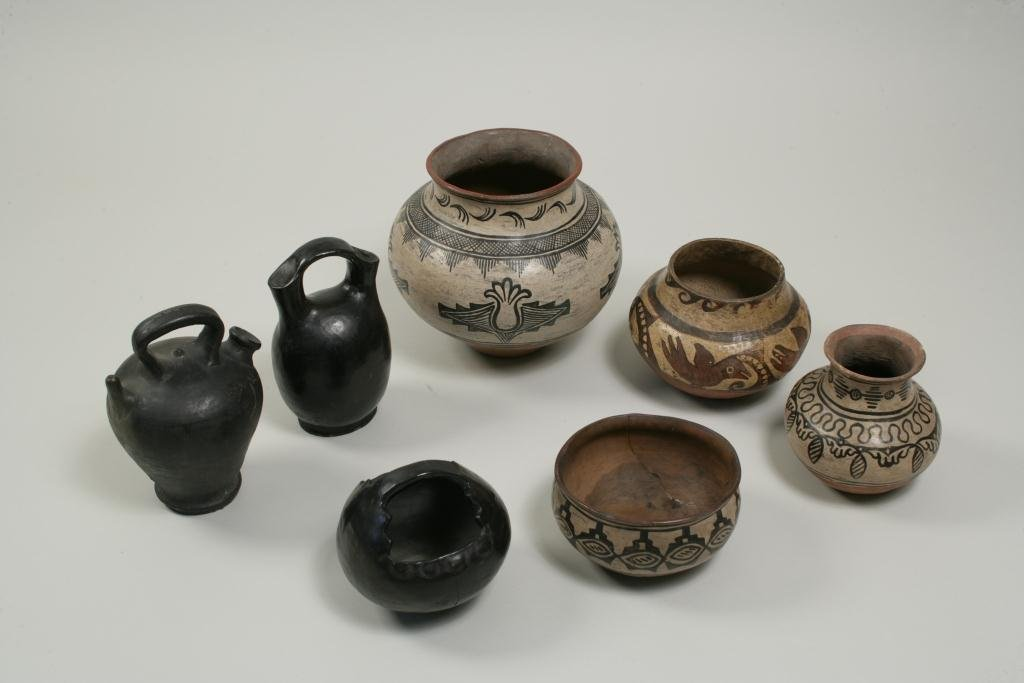 Group of Seven Pueblo Pottery Vessels