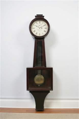 A Monumental Mahogany Kentucky Banjo Clock