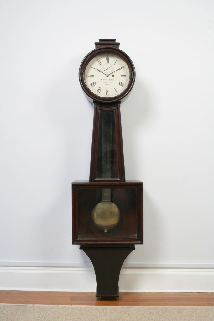 A Monumental Mahogany Kentucky Banjo Clock