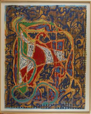 Frank Stella (American, b. 1936), Imola Three IV