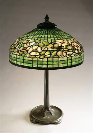 Tiffany Studios, 'Dogwood border' table lamp