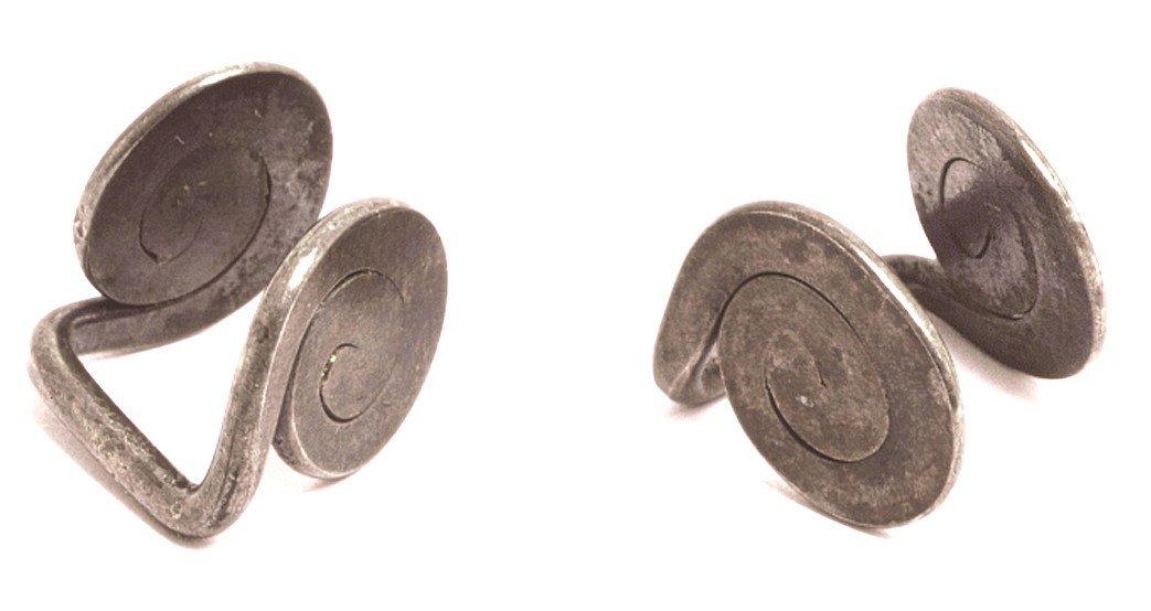 Alexander Calder, Untitled, Spiral Cufflinks