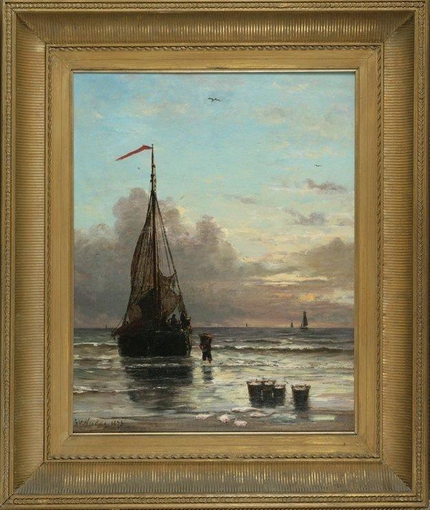 "Hendrik Willem Mesdag, ""Return of the Fishing Fleet"""
