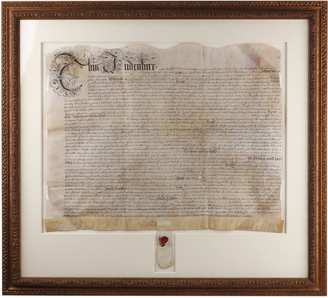 One of William Penn's Earliest Pennsylvania Deeds