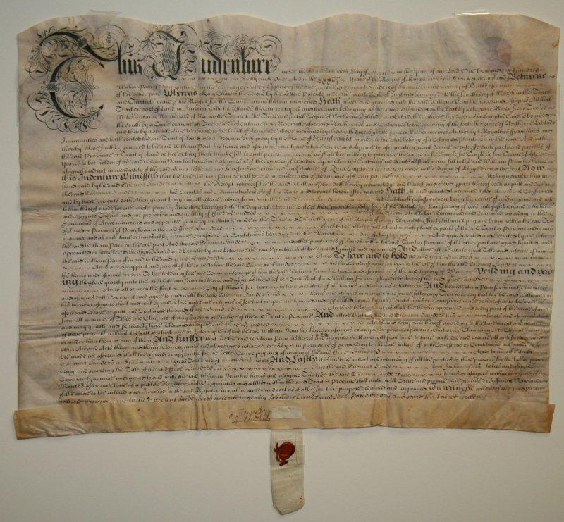 One of William Penn's Earliest Pennsylvania Deeds - 2