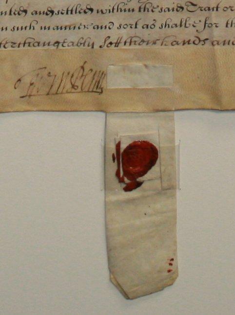 One of William Penn's Earliest Pennsylvania Deeds - 3