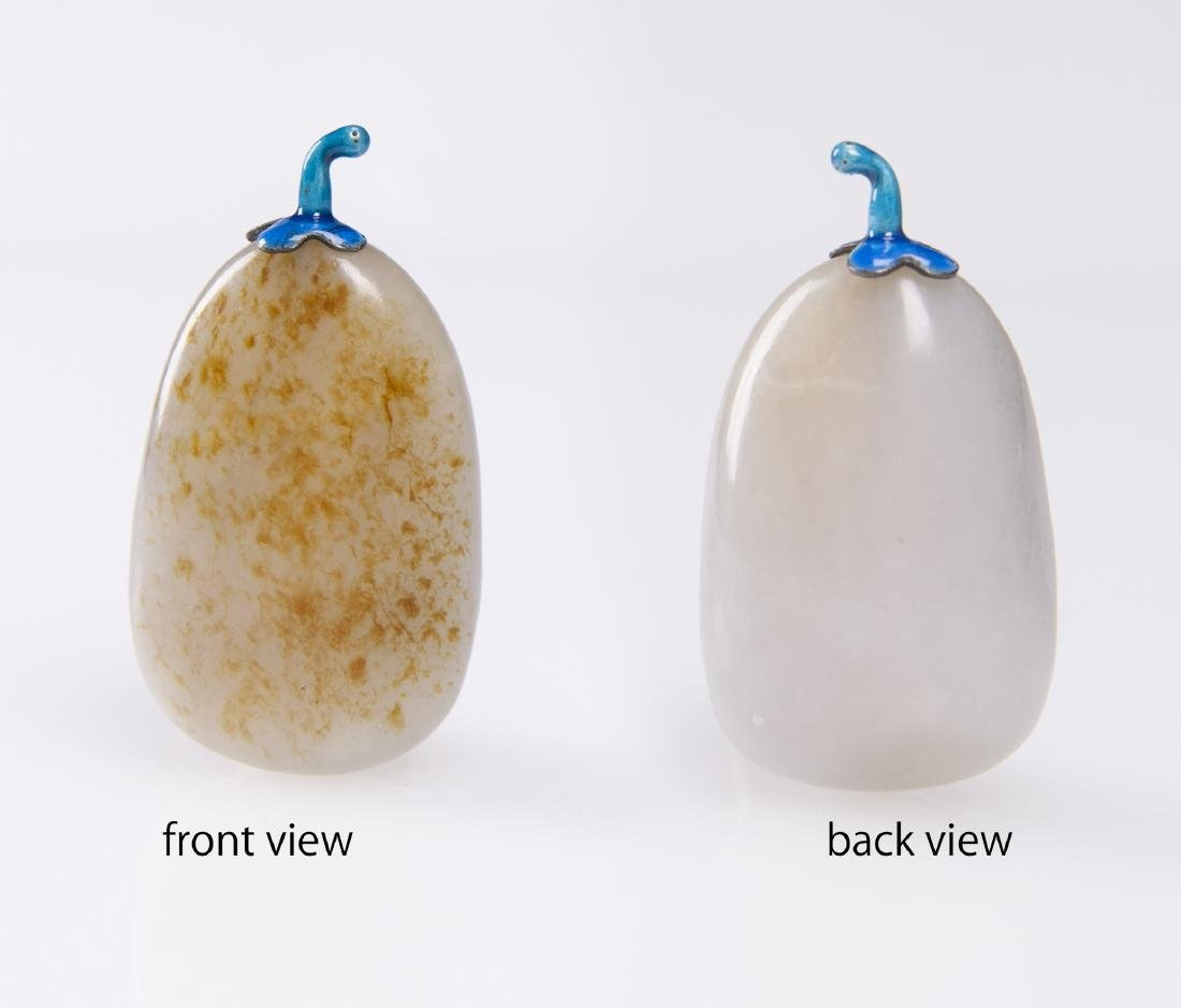 Qing-A White Jade With Russet Skin Snuff Bottle