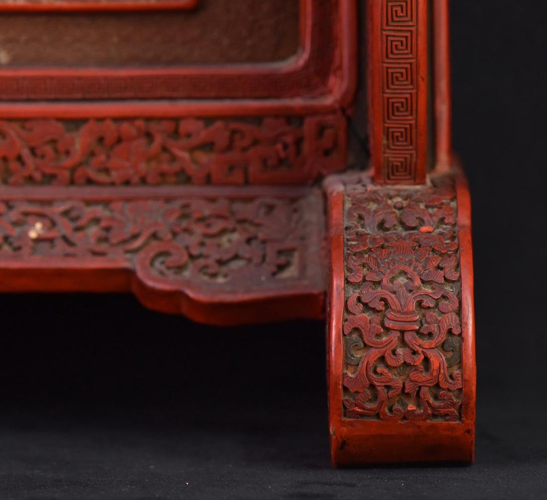 Qing - A Cinnabar Lacquer Carved 'Eight Immortal And - 5
