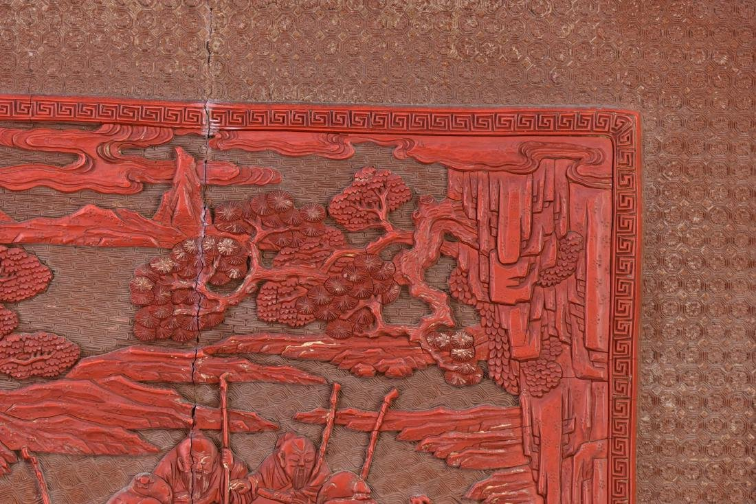 Qing - A Cinnabar Lacquer Carved 'Eight Immortal And - 6