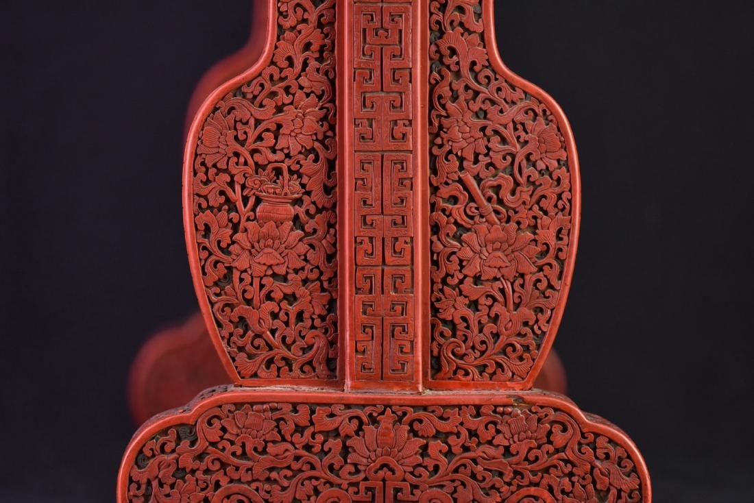 Qing - A Cinnabar Lacquer Carved 'Eight Immortal And - 8