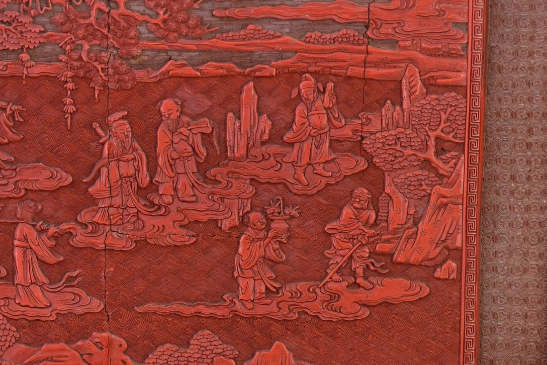 Qing - A Cinnabar Lacquer Carved 'Eight Immortal And - 9
