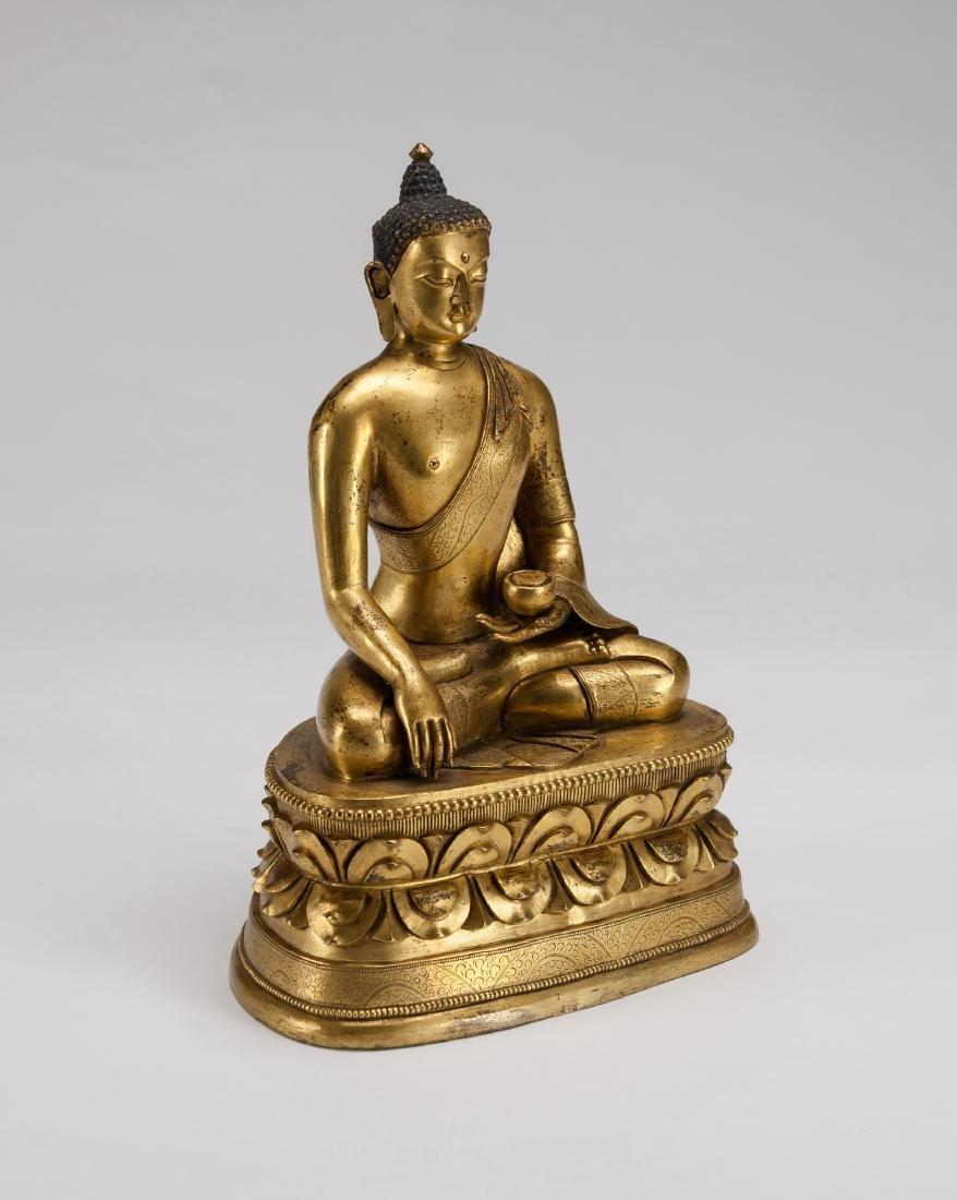 Mongolia A Gilt-Bronze Figure Of Sakyamuni - 2