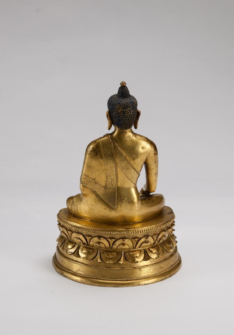 Mongolia A Gilt-Bronze Figure Of Sakyamuni - 4