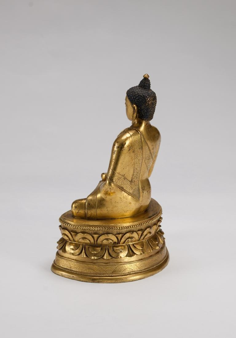 Mongolia A Gilt-Bronze Figure Of Sakyamuni - 5
