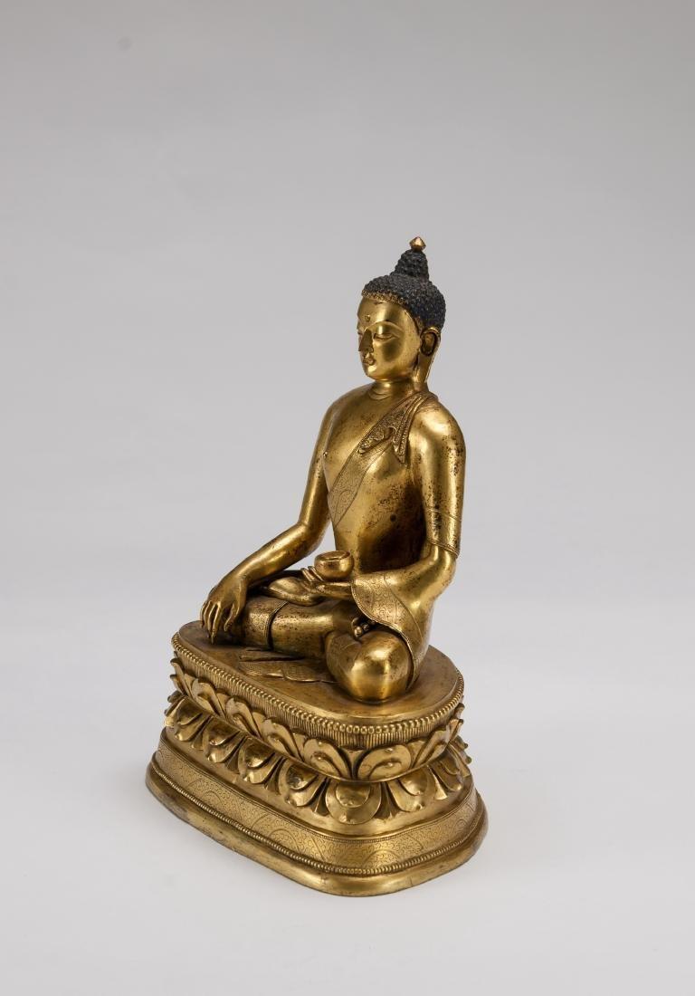 Mongolia A Gilt-Bronze Figure Of Sakyamuni - 6