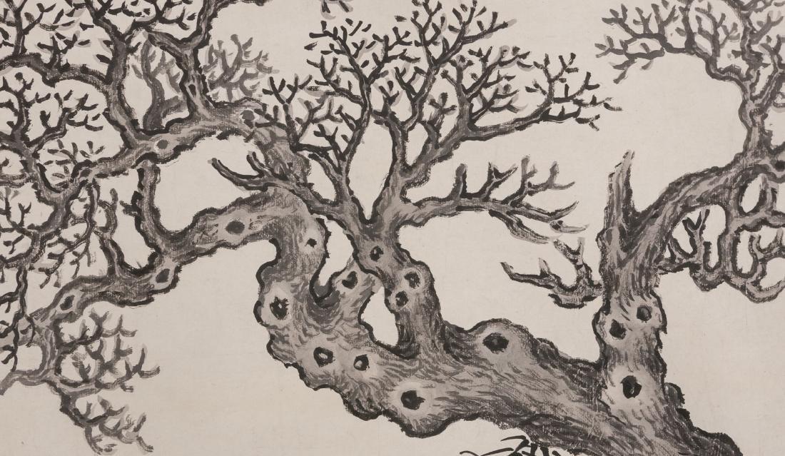 Shen Zhou (1427-1509) - Ink On Paper, Framed. Signed - 2