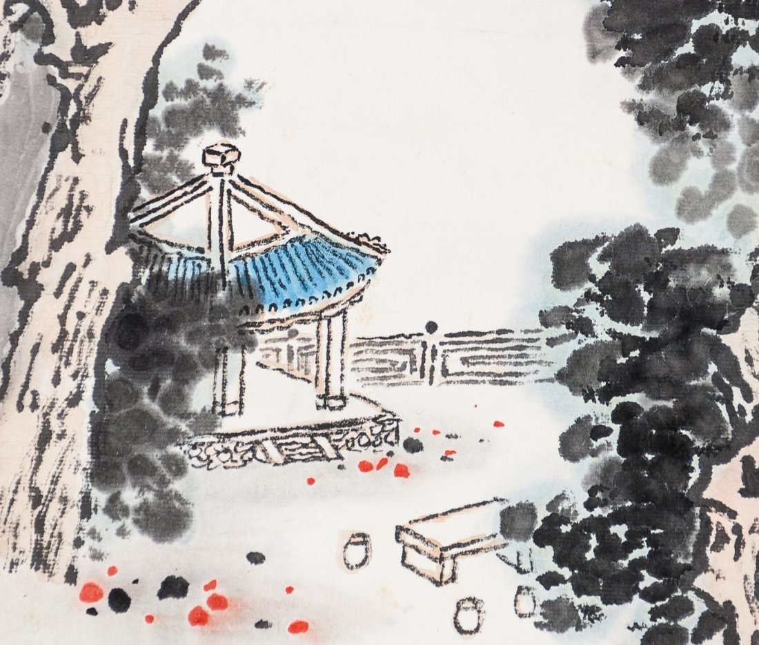 Quan Songyan (1899-1985) Landscape- Ink And Color On - 4