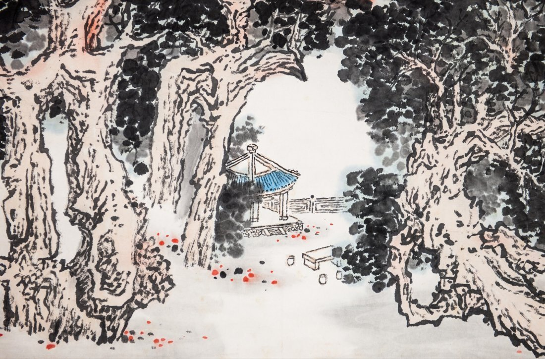 Quan Songyan (1899-1985) Landscape- Ink And Color On - 5