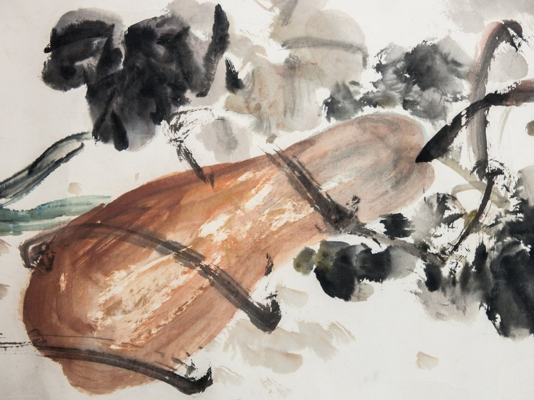 Zhu Lesan (1902-1984) - Ink And Color On Paper, Hand - 2