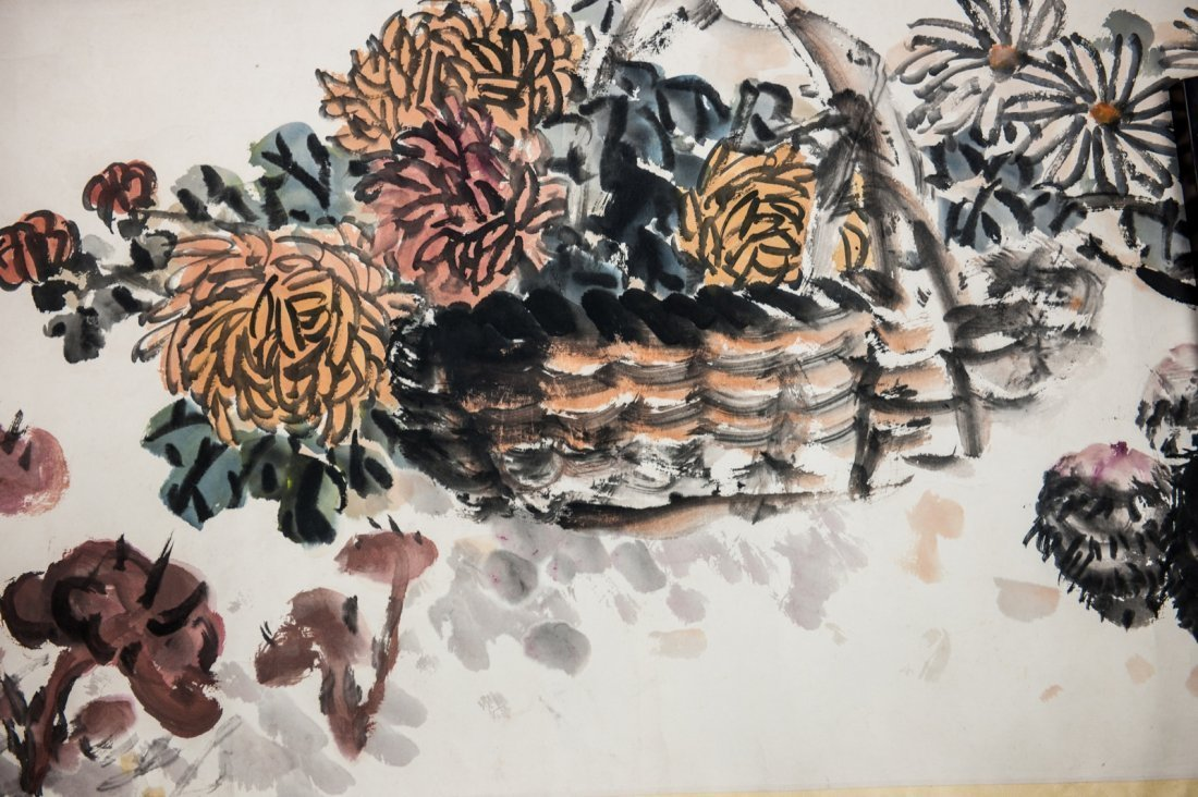 Zhu Lesan (1902-1984) - Ink And Color On Paper, Hand - 3