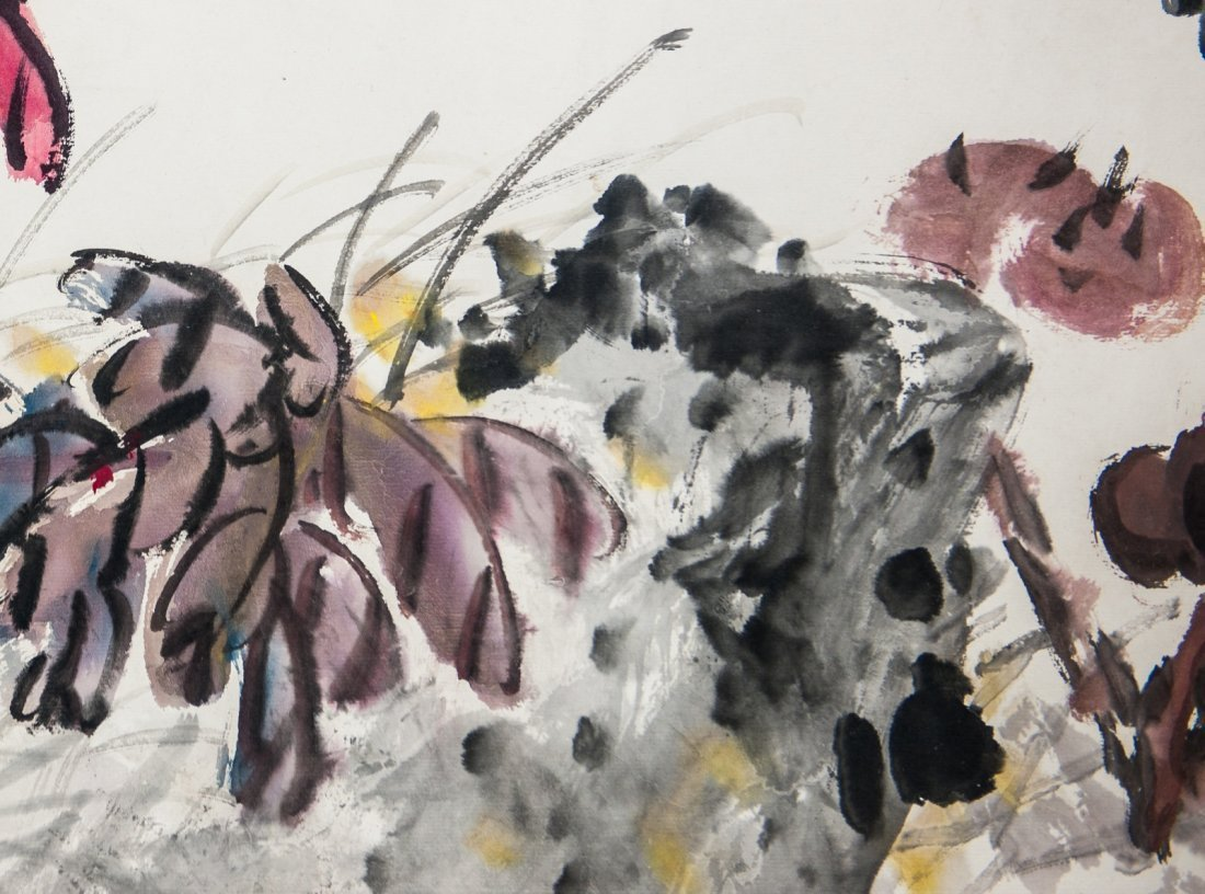 Zhu Lesan (1902-1984) - Ink And Color On Paper, Hand - 4
