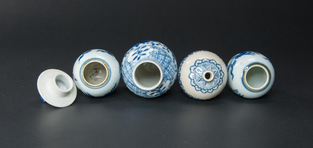 Qing-A Group Of Four Blue And White Jug - 5