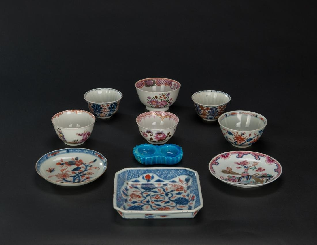 Qing- A Group Of 10 Porcelains Dish