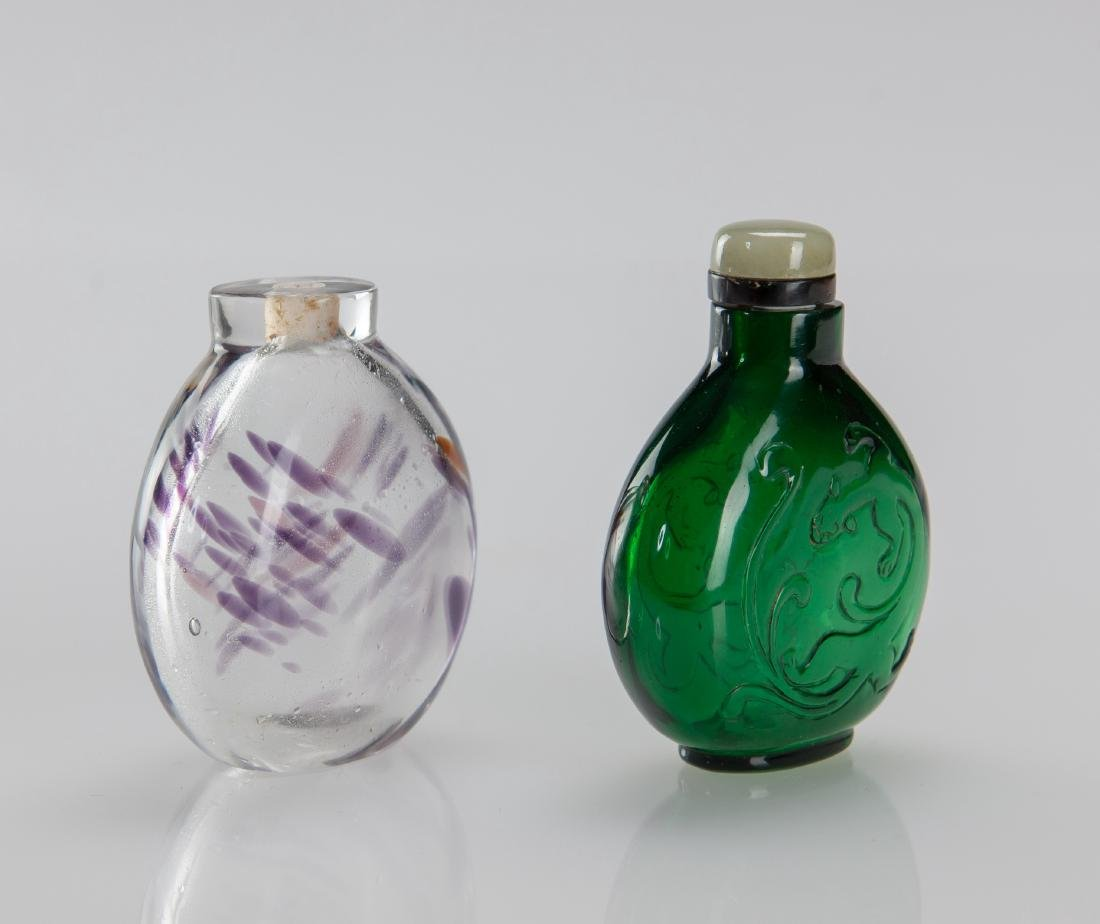 Early 20th Century's - A Two Glass Snuff Bottle - 2
