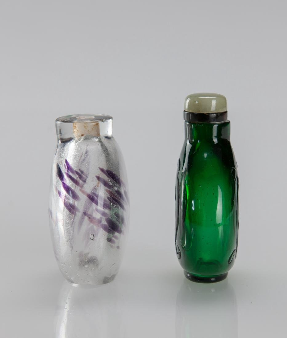 Early 20th Century's - A Two Glass Snuff Bottle - 3