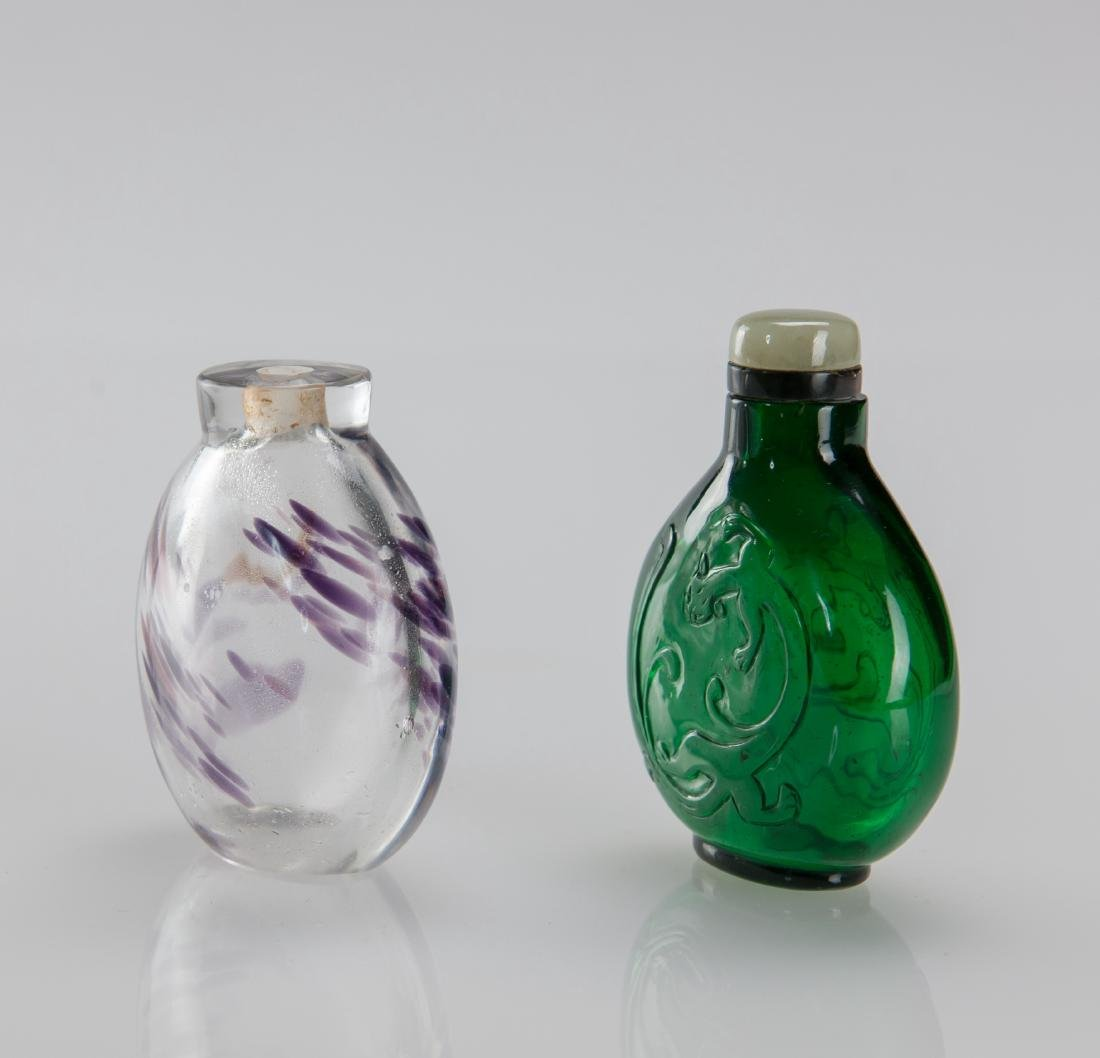 Early 20th Century's - A Two Glass Snuff Bottle - 4