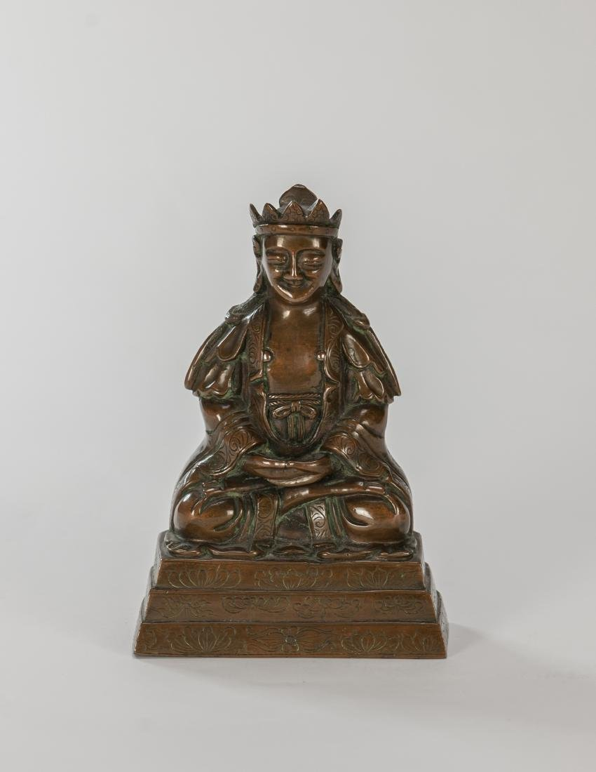 Qing- A Bronze Figure Of Buddha