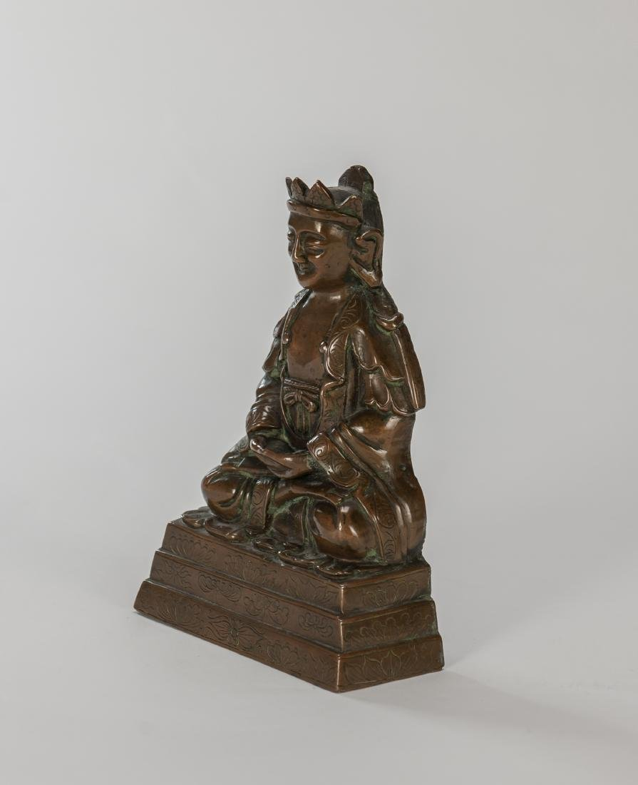 Qing- A Bronze Figure Of Buddha - 2